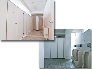 トイレなどの衛生管理が必要な空間に!
