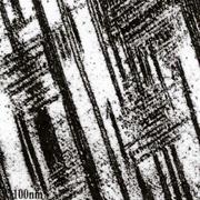 電子顕微鏡下での双晶組織